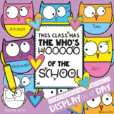 Owl Bulletin Board Set {The Who's Hooooooo of the School}
