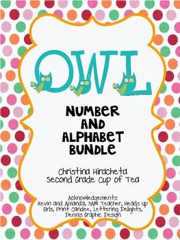 Owl Bundle: Numbers 1-10 & Uppercase Alphabet