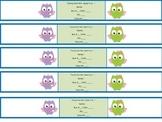 Owl Bus Bracelets for The 1st Week of School