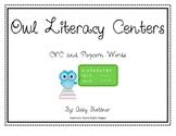 Owl  CVC & Popcorn Literacy Centers