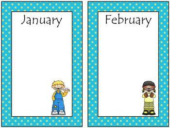 Owl Calendar Bulletin Board Set (Blue Frame)