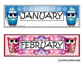 Owl Month Headers