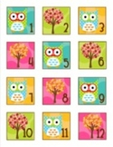 Owl Calendar Numbers Classroom Decor
