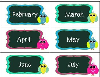 Owl Calendar Pack