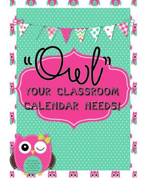 Owl Calendar Circle Time/Calendar Math Set  BONUS Job Title Bulletin Board