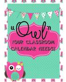 Owl Calendar Circle Time/Calendar Math Set  BONUS Job Titl