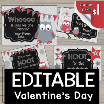 Owl Candy Gram {VALENTINE'S DAY} Printable - Fundraiser - Game