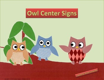 "Owl Center Signs 8.5""x11"""