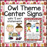 Owl  Center Signs