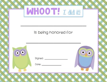 Owl Certificates {All-Purpose~3 Styles}