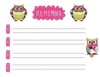 Owl Checklist