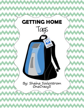 Owl Chevron Backpack Tags - How We Go Home