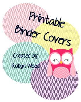Owl and Chevron Binder Covers
