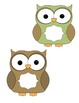 Owl & Chevron Bulletin Board set
