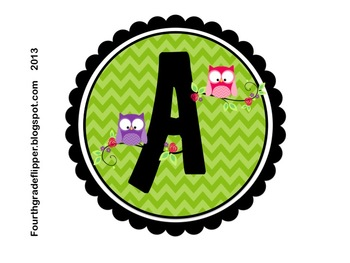 Owl Chevron CAFE Letters and Headers {FREE}