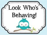 Owl Chevron Classroom Theme Set
