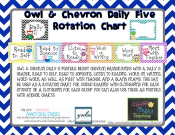 Owl & Chevron Daily 5 Rotation Chart - UPDATED