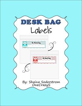 Owl Chevron Desk Bag Labels