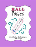 Owl Chevron Hall Passes - Bathroom Passes