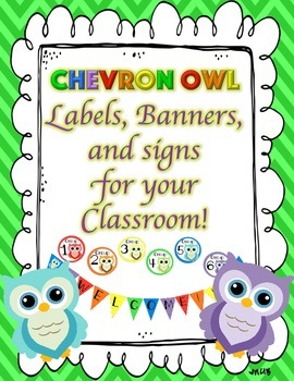 Labels - Chevron Owl