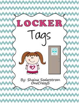 Owl Chevron Locker Tags - Labels
