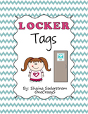 Owl Chevron Locker Tags - Labels