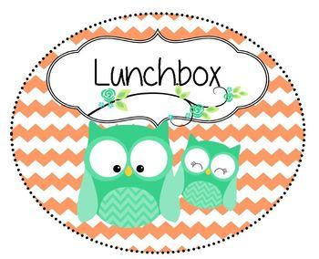 Owl & Chevron Lunch Choice Chart
