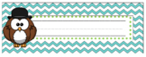 Dollar Deals:  Owl Chevron Name Tags