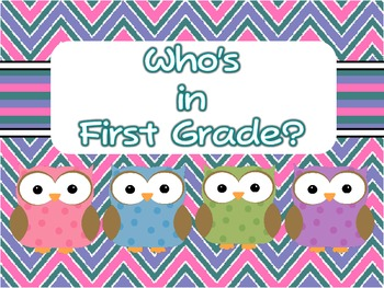 Owl Chevron Name Tags, Name Plates, Quick Picks, Numbers &