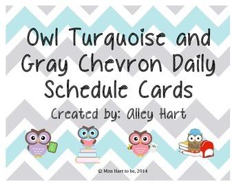 Owl Chevron Schedule Cards