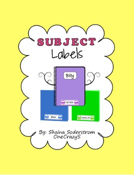 Owl Chevron Subject Labels - Notebook and Folder Labels