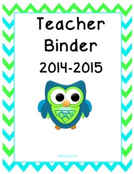 Owl & Chevron Teacher Binder-Dual Language