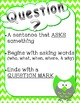Owl & Chevron Themed Sentence Posters-Statement, Question,