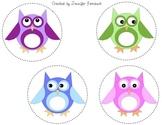 Owl Circle Labels