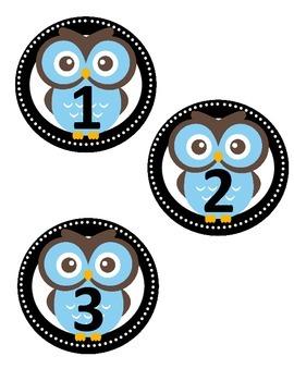 Owl Circle Numbers 1-30