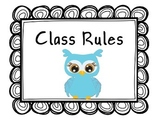 Owl Class Rules Posters