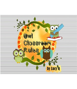 Owl Classroom Behavior Rules - Posters
