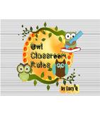 Owl Classroom Behavior Rules - Posters