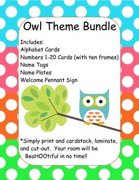 Owl Classroom Bundle