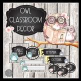 Owl Classroom Decor