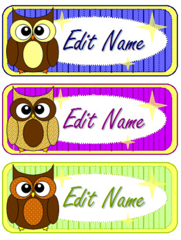 Owl Classroom Decor Bundle