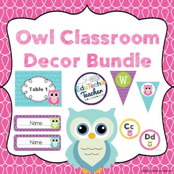 Owl Classroom Decor Bundle {Owl Theme}