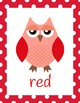 Owl Color Posters (classroom decor)