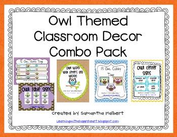 Owl Classroom Decor Combo Pack