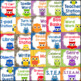 Owl Theme Classroom Labels with Primary Colors