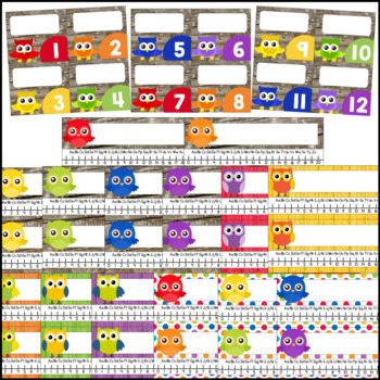 Owl Theme Classroom Name Tags, Locker Tags & More with Primary Colors