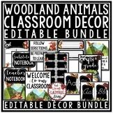 Woodland Animals Classroom Décor Theme: Newsletter Template Editable Nameplates