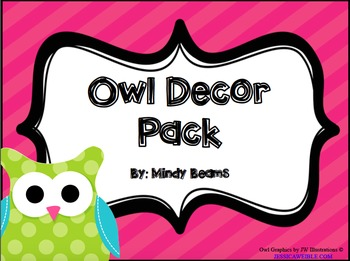 Owl Classroom Decor Pack - Two Options