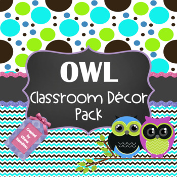 Owl Classroom Decor Pack
