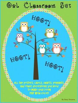 Owl Classroom Decoration Set